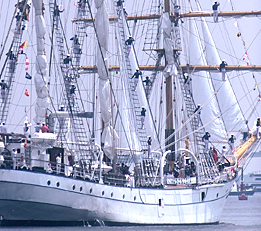 Tall Ship Arriving in the Inner Harbor
